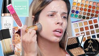 FULL FACE USING ONLY BEAUTY GURU'S COLLABS & BRANDS!