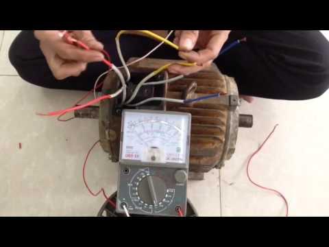 Determine the polarity of three-phase motor winding - Cách Xác Định Đầu Dây Cho Động Cơ KĐB 3 Pha