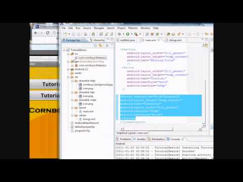 Android Tutorial & Lessons 5: XML made EASY & Introduce Java