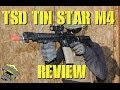 DesertFox Airsoft: TSD Tin Star M4 Review with Game Play