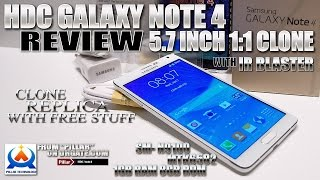 "HDC Galaxy Note 4 [REVIEW] 5.7"" HD, MTK6582, IR Remote, S"