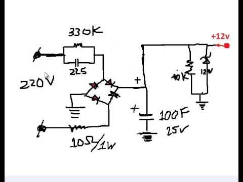 Nguyên lý hoạt động mạch hạ áp trực tiếp 220vAc--_ 12VDC