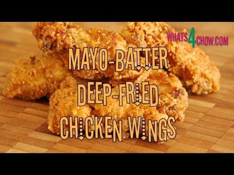 Mayo Batter Deep Fried Chicken Wings. Crispy Deep-fried wings with a unique mayo batter.