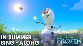 "Frozen ""In Summer"" Song Sing-a-long With Olaf Official"