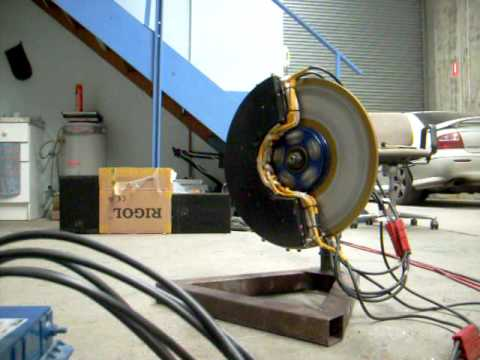 Electric Car Axial Flux 3 Phase AC Induction Wheel Motor Test