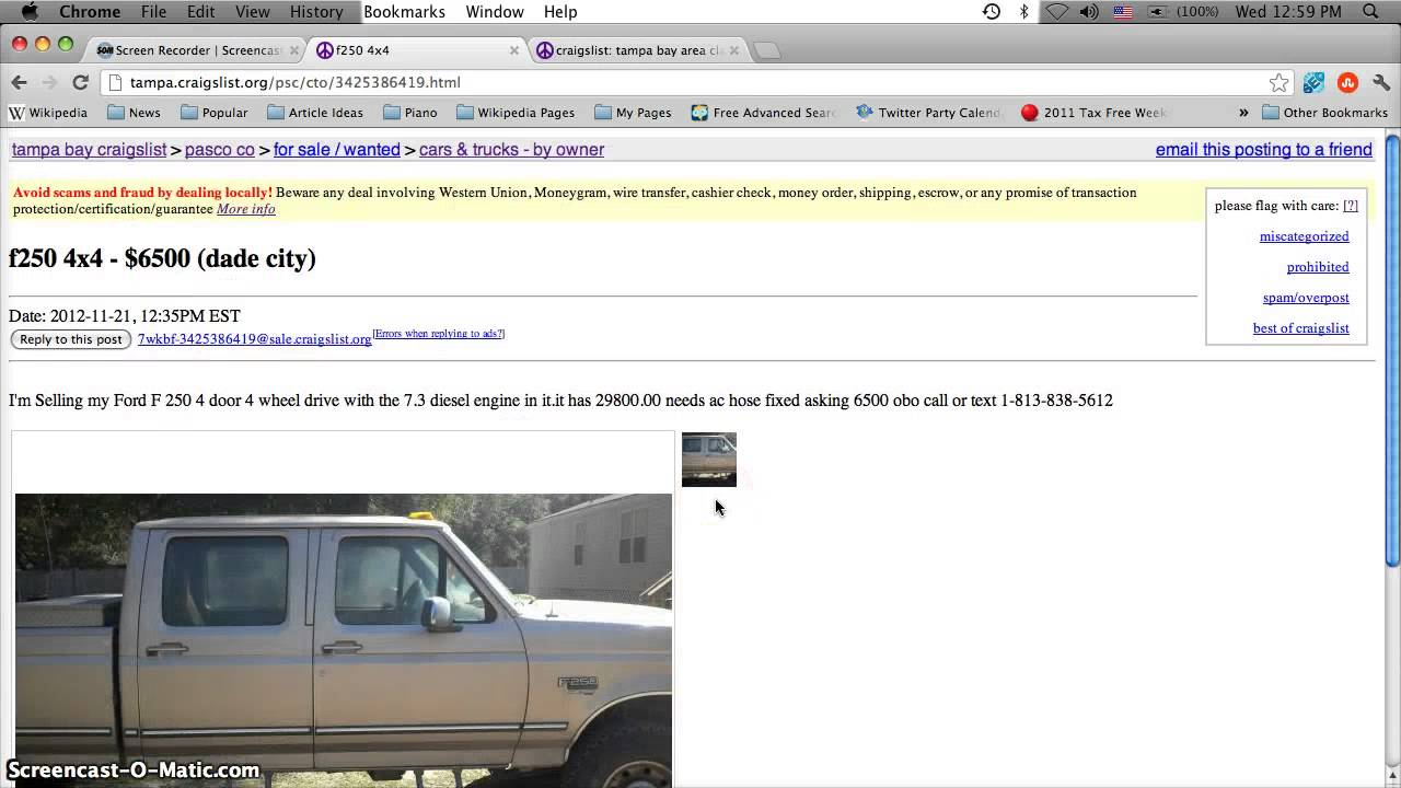 Craigslist Cars Sale Florida Autos Post