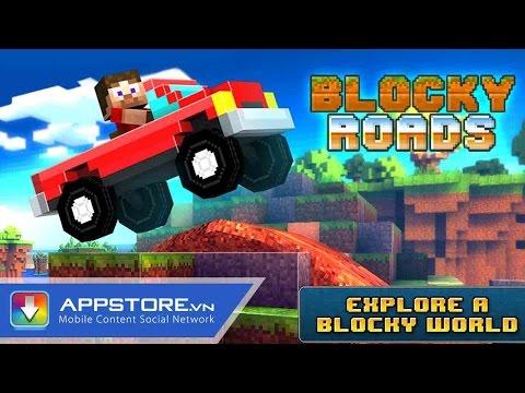[Android Game] Blocky Roads - Đua xe minecraft - AppStoreVn