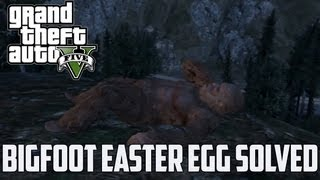 GTA 5 BIGFOOT EASTER EGG MYSTERY SOLVED! (How To Find And