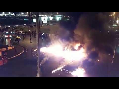 سيجارة تتسبب في حريق هائل بسيارة محملة بالوقود بطنجة