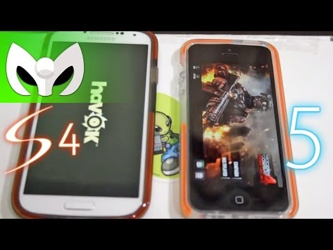 Galaxy S4 vs iPhone 5 Espaol Speed Test (VELOCIDAD)