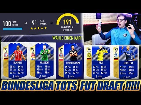 FIFA 18: SCHAFFEN wir 191 RATED BUNDESLIGA TOTS FUT DRAFT? 🔥🔥 Ultimate Team - Team of the Season