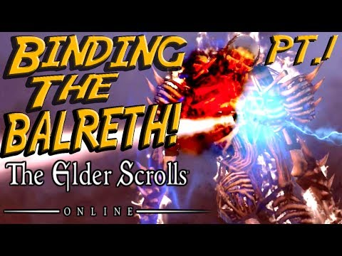 Elder Scrolls Online #3 - Saving Dark Elves! Binding the Balreth! & Funny Moments!