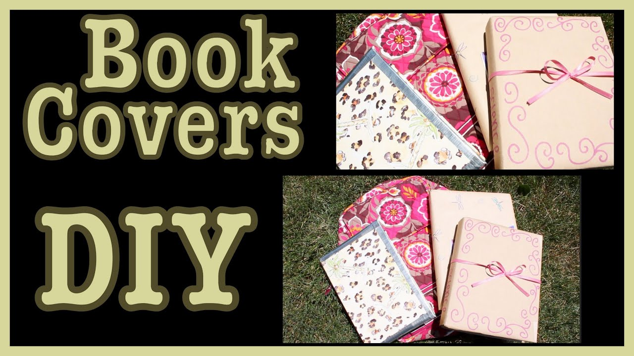 Cool Textbook Cover Ideas : Diy book covers ideas how to decorate them youtube