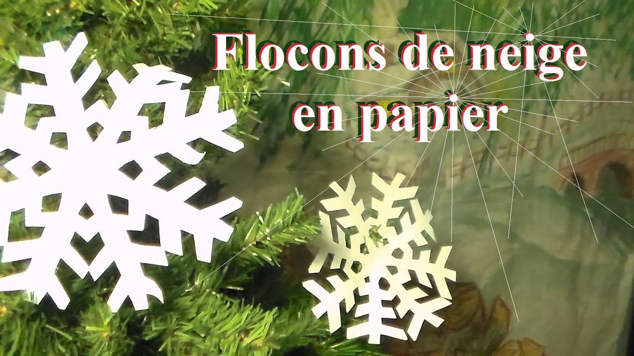 Fabriquer un flocon de neige en papier bricolage de no l - Comment dessiner un flocon de neige facile ...