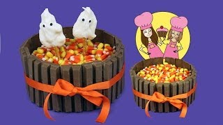 Kit-Kat Halloween Cake Or Thanksgiving How To Tutorial