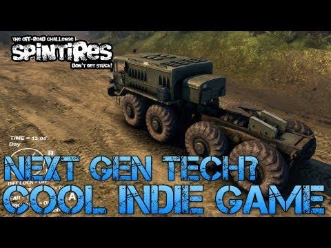 Spintires Tech Demo - NEXT GEN TECH? Cool Indie Game on Kickstarter