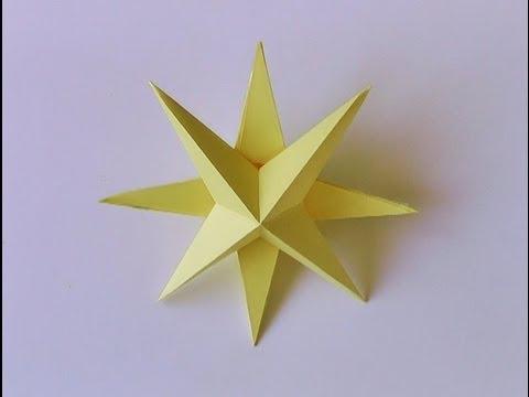 Manualidades - Estrella de navidad 3D - 3D star Christmas ornament.