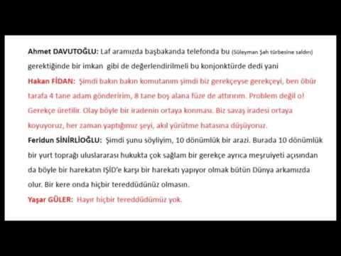 Ahmet Davutoglu - Gerekirse Kendi Ülkemize Füze Atarız - Gizli Ses Kaydi #2