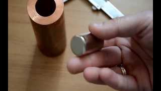 Neodymium(neodyum) mıknatıs - bakır boru deneyi