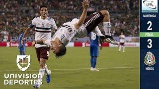 Martinica 2-3 México - GOLES Y RESUMEN - Grupo A - Copa Oro
