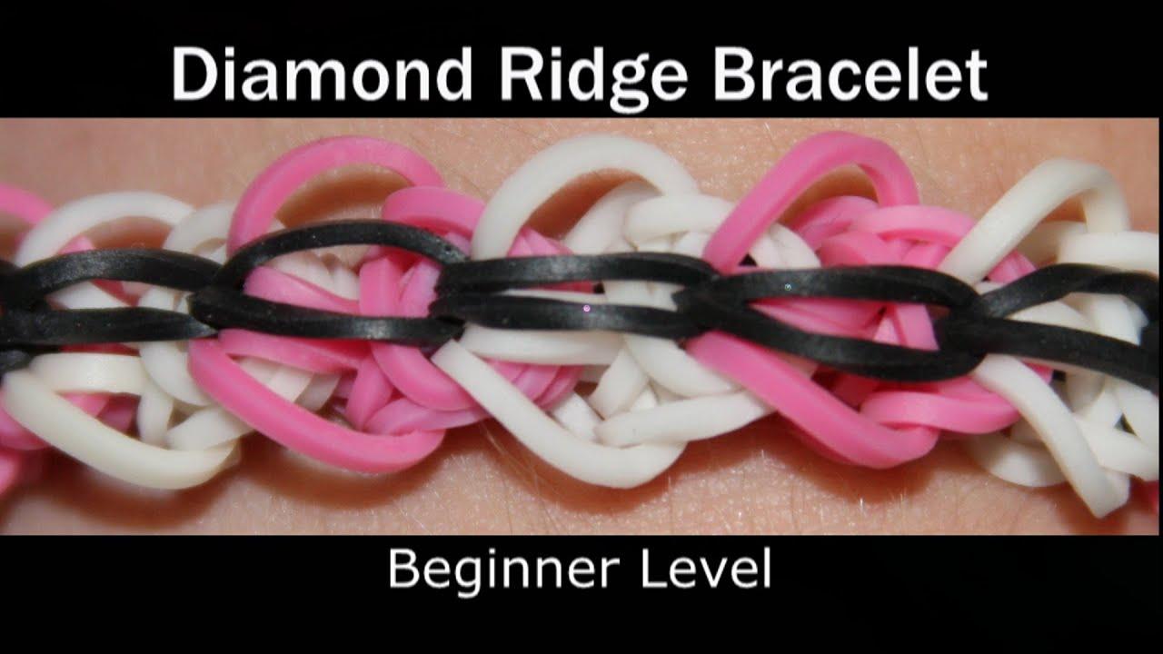 rainbow loom174 diamond ridge bracelet youtube