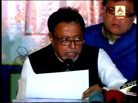 Mukul Roy announing tmc candidates in other states for upcoming LS poll.
