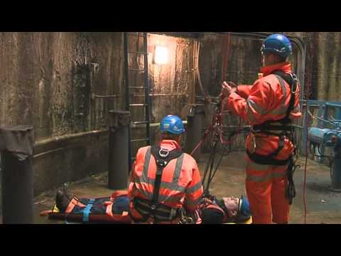 Confined space rescue demonstration