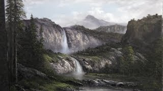 Paint With Kevin Hill Misty Falls