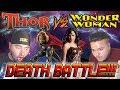 2 ASIANS REACT Thor Vs Wonder Woman Death Battle Reaction