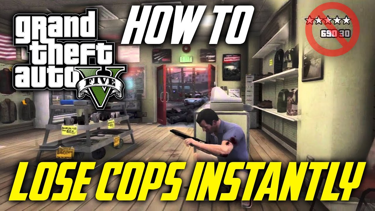 GTA 5 Online: Lose Wanted Level INSTANTLY & Free (GTA V ...