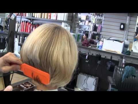 Sexy Blonde Womens bob clipper haircut / Part 2 - YouTube