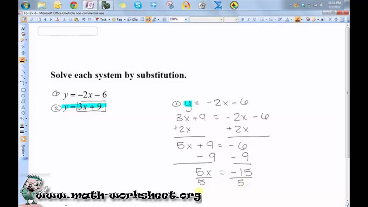 ... Equations and Inequalities - Solving by substitution - Easy - YouTube