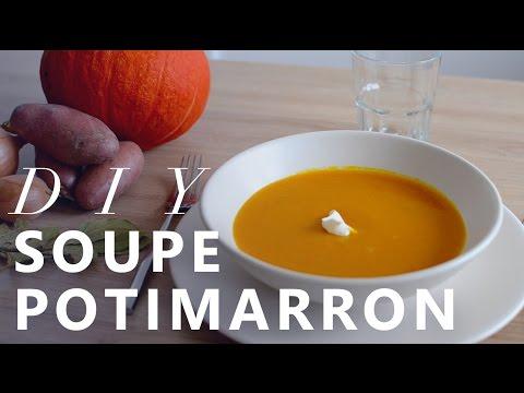 JOUR 10 : RECETTE SOUPE POTIMARRON - RECIPE PUMPKIN SOUP