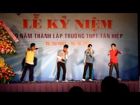 ( HD) Nhảy hiphop mừng ngày thành lập trường THPT Tân HIệp
