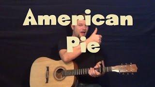 American Pie (Don McLean) Easy Guitar Lesson