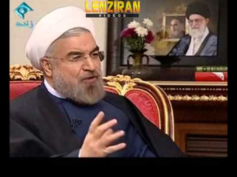 Hassan Rohani present live , report of first 100 days of his cabinet on TV
