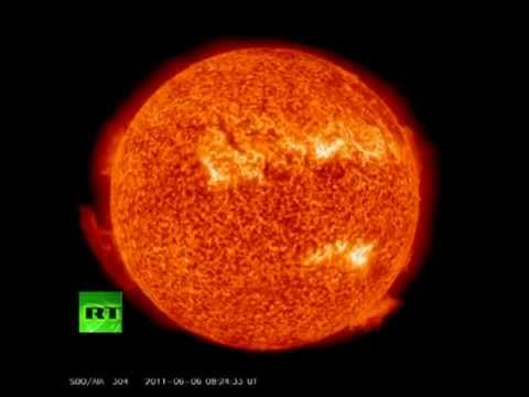 NASA films incredible solar flare: Video of unique sun explosion