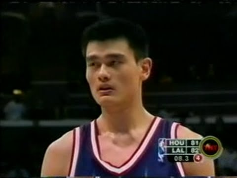 Yao Ming Full Highlights 2003.02.18 at Lakers - 24 Pts, 14 Rebs For Rookie Yao