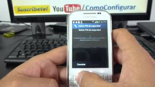 Como Bloquear El Telefono Por Patron Samsung Galaxy Chat