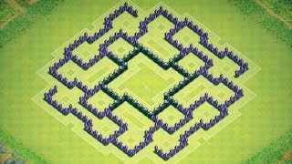 Clash Of Clans Epic Town Hall 8 Farming Base (Arduous