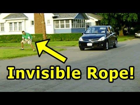 Funny Pranks  Invisible Rope Prank II  YouTube