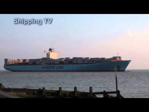 Eugen Maersk inbound Felixstowe, 27th March 2014
