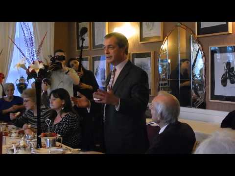 Nigel Farage At Walpole Bay Hotel, Clifftonville 20/01/14