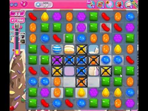 How to beat Candy Crush Saga Level 50 - 1 Stars - No Boosters - 122