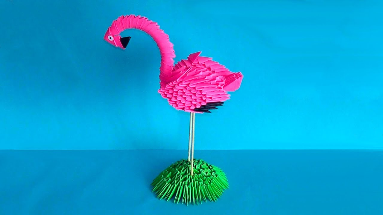 3d Origami Flamingo Tutorial