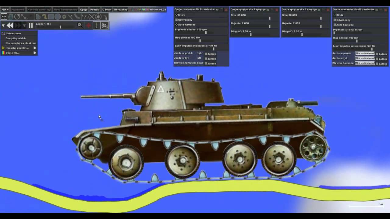 Algodoo Phun - Bt7 tank - YouTube