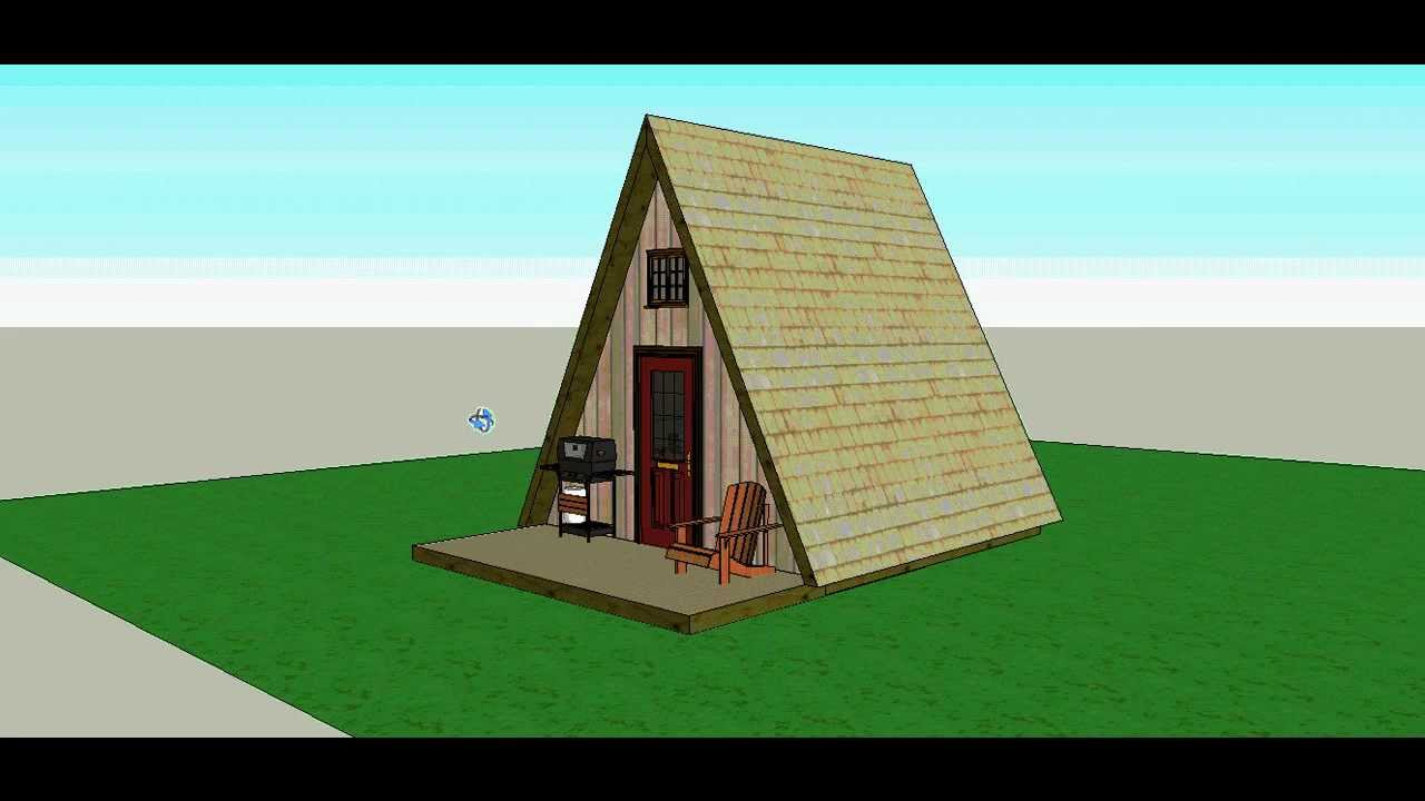 A frame 14x14 cabin by solarcabin youtube for 14x14 cabin plans