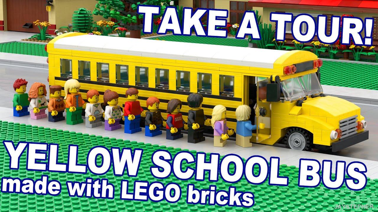 Custom Build 18 Passenger Lego Yellow School Bus Cc
