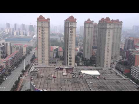 Changsha rooftop view: Yu Hua Ting