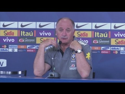 Scolari pleased with Brazil's performance